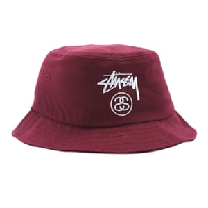 maroon Stussy hat from Urban Outfitters