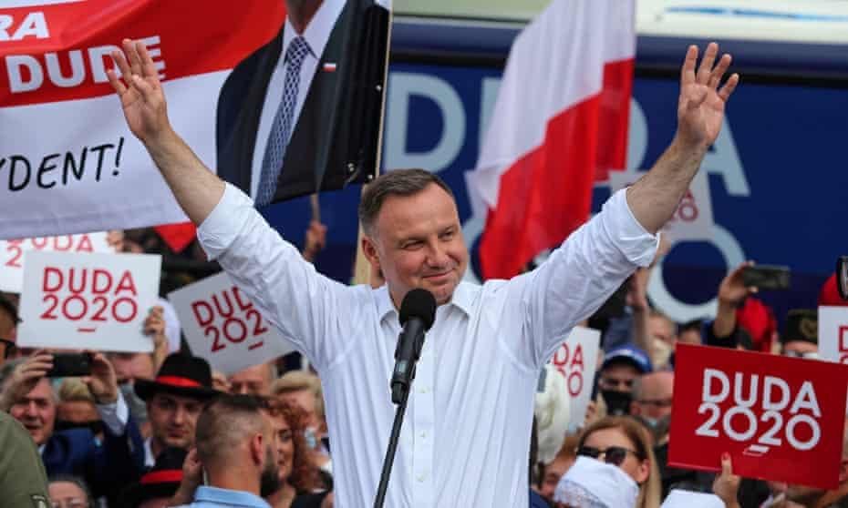 Andrzej Duda at a campaign event in Rybnik