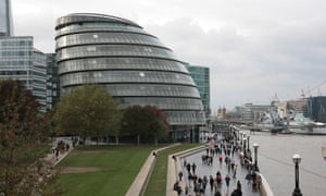 City Hall, the home of the London assembly and London mayor.