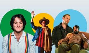 Robin Williams in Mork & Mindy; Jean-Michel Basquiat; Robert Webb and David Mitchell in Back