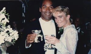 OJ Simpson and Nicole Brown Simpson at their wedding in 1985.