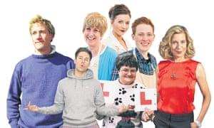 Left to right: Ben Fogel, Joey Essex, Bake Off finalists, Maureen Rees and Katie Hopkins