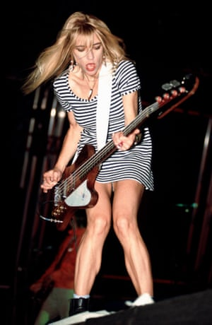 Kim Gordon performing with Sonic Youth in 1991.