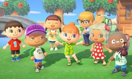 A group of simulated cartoonish characters from Animal Crossing