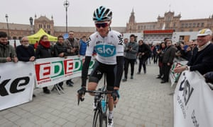 Chris Froome in Seville before the fourth stage of the Ruta del Sol