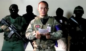 In a video, Oscar Pérez, reportedly the pilot who flew the helicopter, reads a statement against the government.