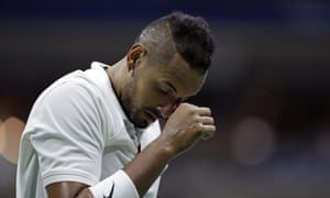 Nick Kyrgios, of Australia, during his defeat to Andrey Rublev of Russia in New York.