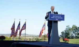 Joe Biden campaigns in Gettysburg, Pennsylvania, moments ago.