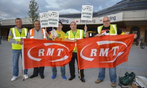 Reading's RMT members vow to hold a solid strike at Reading station in Berkshire.