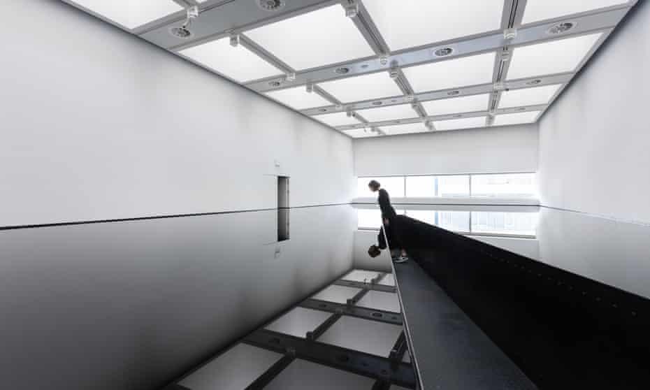 Richard Wilson's 20:50 (1987) at Space Shifters, at Hayward Gallery, London