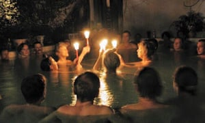A ceremony at Harbin Hot Springs.