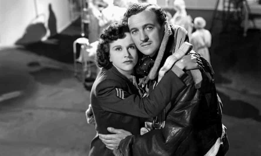 Kim Hunter and David Niven in A Matter of Life and Death.