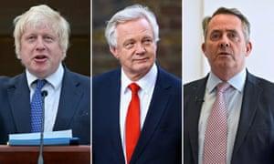 Boris Johnson, David Davis and Liam Fox