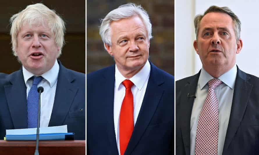 Photo composite of Boris Johnson, David Davis and Liam Fox
