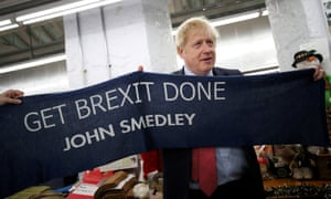 Boris Johnson campaigning in the East Midlands
