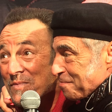Boss time … Bruce Springsteen and Nils Lofgren on stage at Coventry's Ricoh Arena.