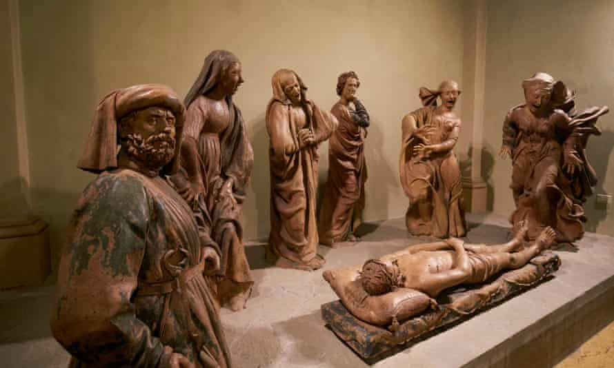 Terracotta statues by Early Renaissance sculptor Niccolo dell'Arca