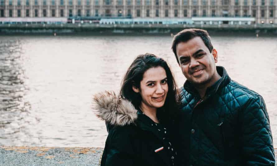 Vishav and Shivani at their wedding ceremony in London on 10 April 2021