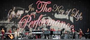 Stevie Wonder and band at BST.