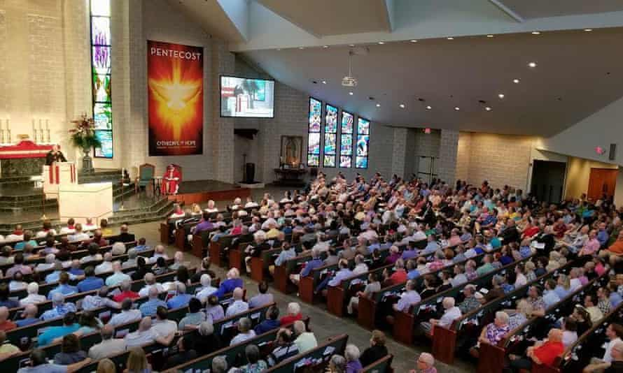 A congregation at the Cathedral of Hope in Dallas, Texas. With 4,000 members, 80% of which are LGBT, it has been called the world's largest gay church.