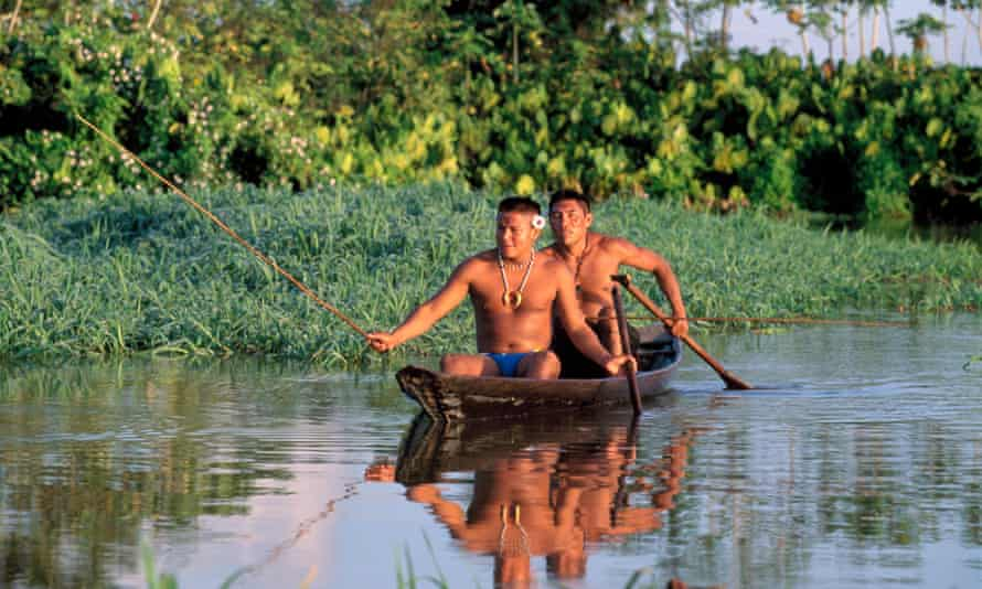 The main source of transport in the area is canoe.