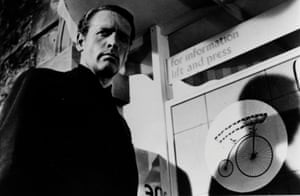 Patrick McGoohan as Number Six in the TV series The Prisoner.