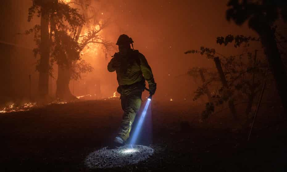 Authorities expanded the evacuation zone overnight, as the fire spread.