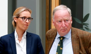 Alice Weidel, left, and Alexander Gauland of the AfD party