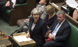Theresa May addresses MPs in the Commons