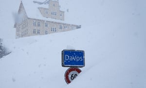 Davos town sign