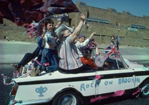 The West Ham fans took the the streets the next day to celebrate a famous win, via convertible ...