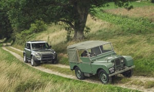 The new Land Rover Defenderalongside its predecessor. Jaguar Land Rover has suspended production at its UK factories