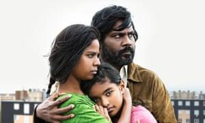 'Soulful rigour': Kalieaswari Srinivasan, Claudine Vinasithamby, Jesuthasan Antonythasan in Dheepan.