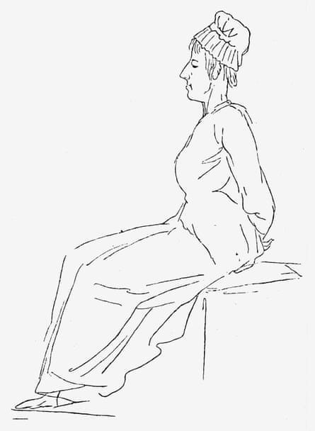 David's pencil sketch of Marie-Antoinette on her way to the guillotine