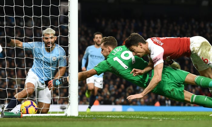 835826f87 Sergio Agüero cuts down Arsenal as Manchester City close gap to Liverpool