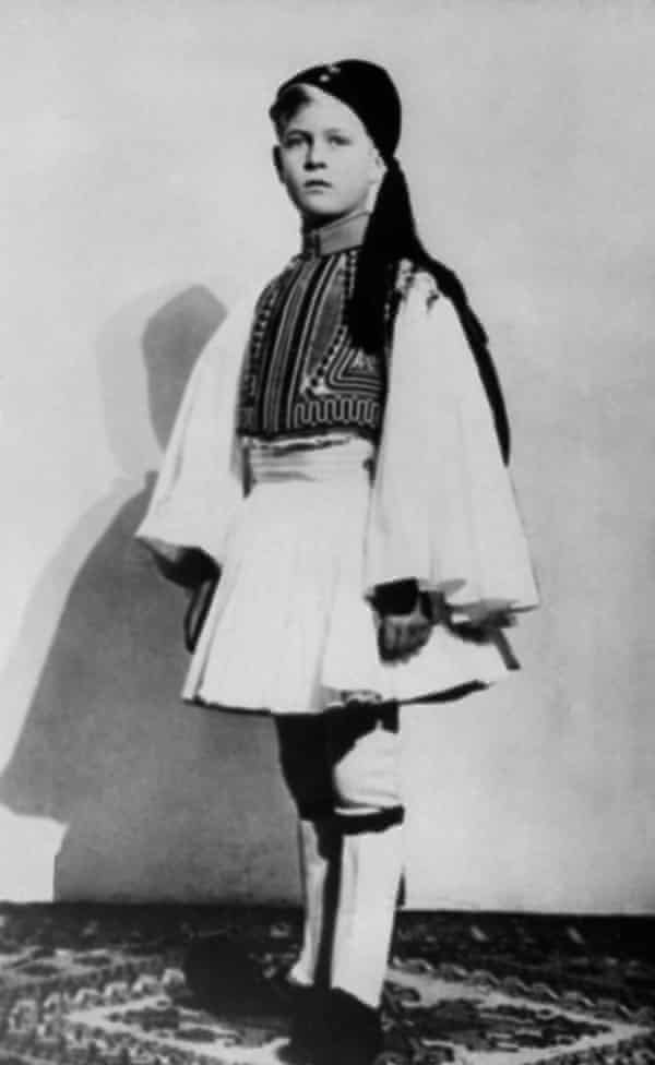 Prince Philip of Greece in traditional costume, c1930.