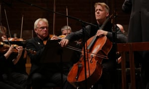 Unshowy mastery … Cellist Alban Gerhardt with BBCNOW conducted by Jac van Steen.