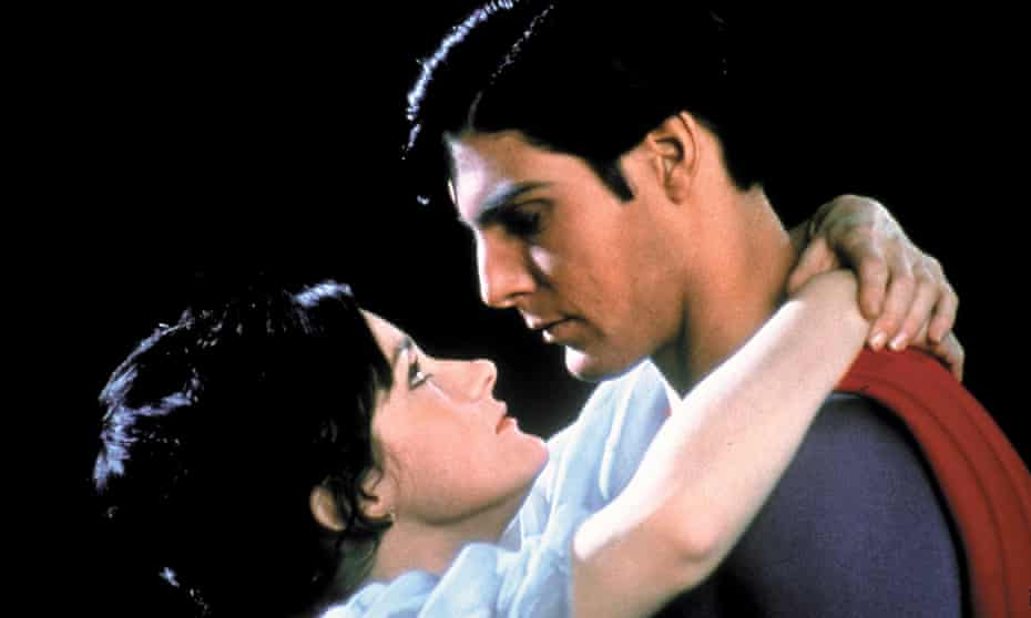 Magical airborne ballet ... Margot Kidder and Christopher Reeve in Superman, 1978.