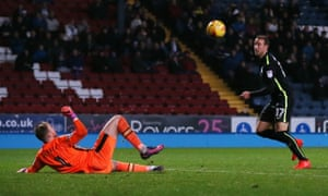 Glenn Murray, right, scores Brighton's final goal in their 3-2 win at Blackburn Rovers.