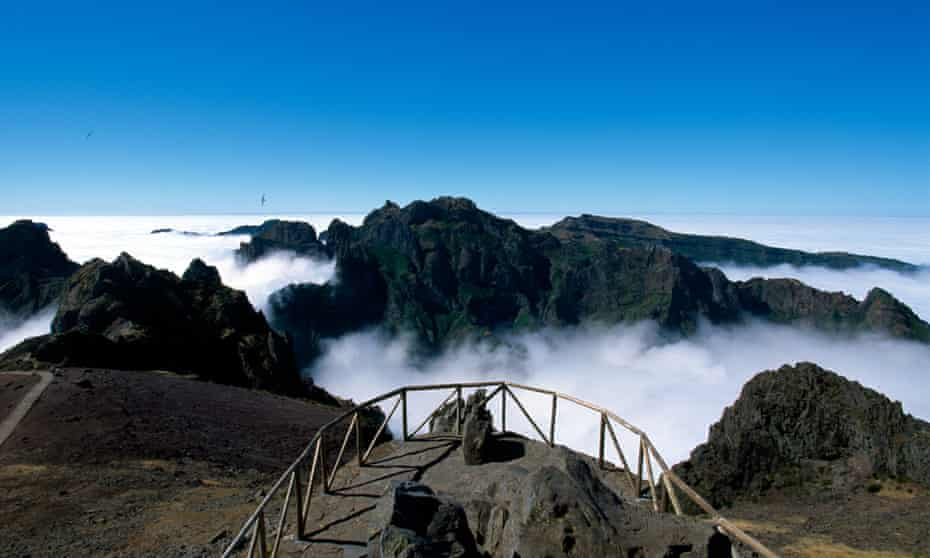 A viewpoint high in Madeira's 1,800-metre mountains.