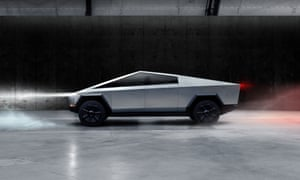 The Cybertruck, Tesla's first electric pickup truck.
