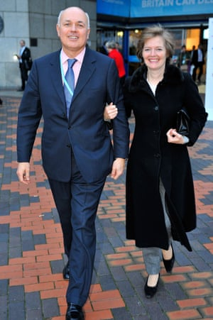 Iain Duncan Smith with his wife, Betsy.