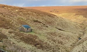 Looking north to Oyster Clough cabin.
