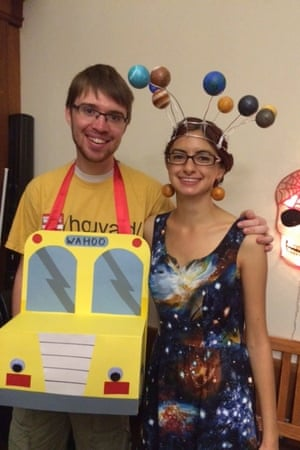 Ms Frizzle and the Magic School Bus Halloween costume