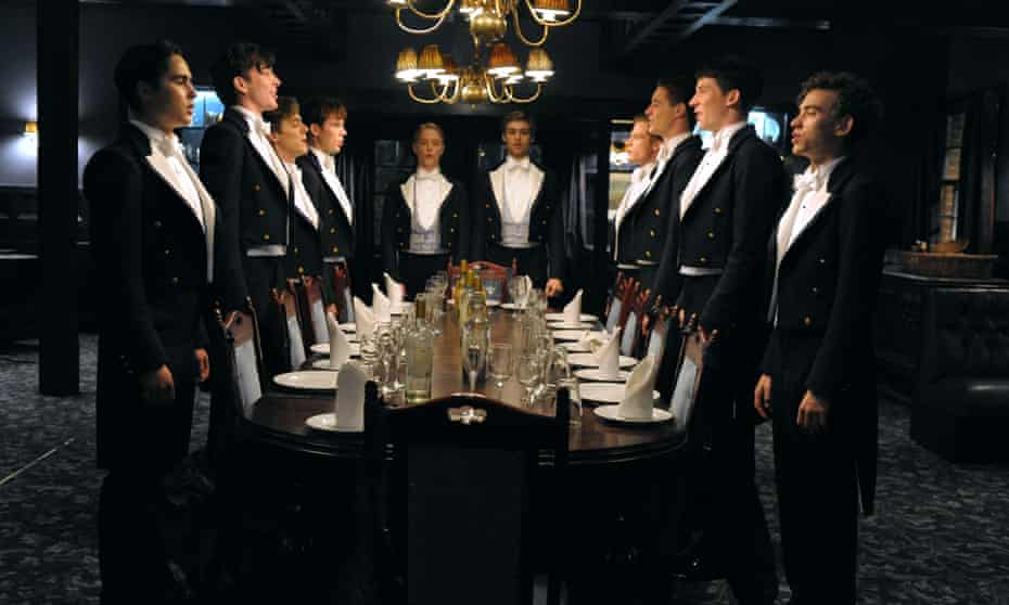 A scene from the 2014 film The Riot Club, which drew its inspiration from the antics of the all-male members of the Bullingdon Club.