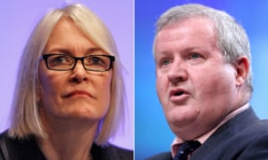 Margot James, left, the culture minister, confronted SNP Westminster leader Ian Blackford