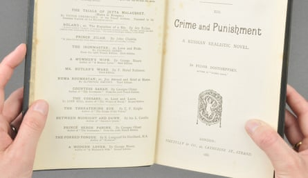 A English first edition of Crime and Punishment.