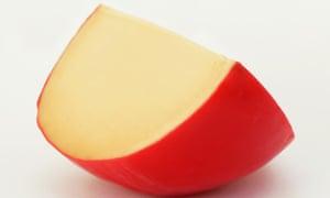 A wedge of Edam cheese