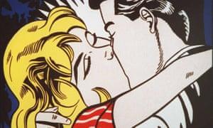 Roy Lichtenstein's Kiss II