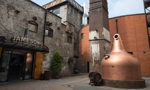 The entrance to the Old Jameson Whiskey Distillery, Dublin, Ireland.